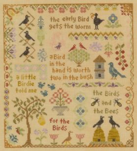 Antique Bird Sampler
