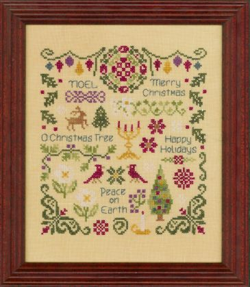 Antique Christmas Sampler