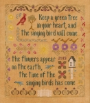 Antique Songbird Sampler