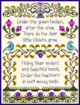 Antique Violet Sampler